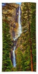 Upper And Lower Yosemite Falls Beach Towel