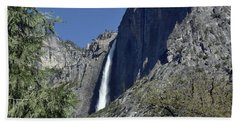 Upper Yosemite Falls Beach Towel
