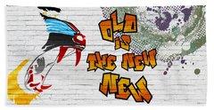 Urban Graffiti - Old Is The New New Beach Towel
