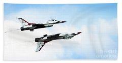 Usaf Thunderbirds Beach Sheet by Lawrence Burry