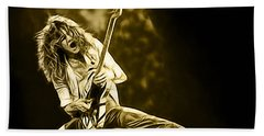 Van Halen Eddie Van Halen Collection Beach Towel by Marvin Blaine