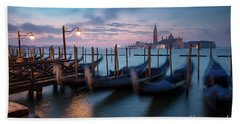 Beach Towel featuring the photograph Venice Dawn by Brian Jannsen