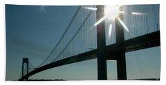 Verrazano Bridge Starburst Beach Sheet