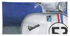 Vespa 53 Beach Towel