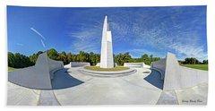 Veterans Freedom Park, Cary Nc. Beach Towel by George Randy Bass
