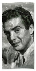 Victor Mature Vintage Hollywood Actor Beach Towel