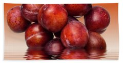 Victoria Plums Beach Towel by David French