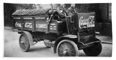 Vintage Coke Delivery Truck Beach Towel