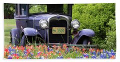 Beach Towel featuring the photograph Vintage Model T Ford Automobile by Robert Bellomy