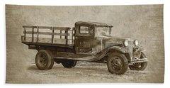 Vintage Truck Beach Sheet