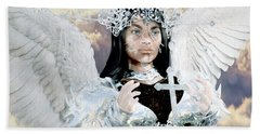 Vitiligo Angel Beach Towel