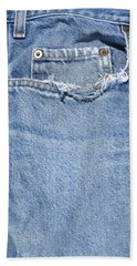 Worn Jeans Beach Sheet