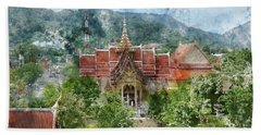 Wat Chalong In Phuket Thailand Beach Towel