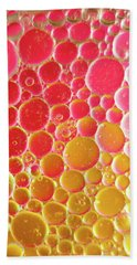 Water And Oil Bubbles Beach Towel