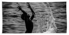 Water And Stones 3 Beach Towel
