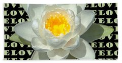 Water Lily Love Beach Towel by Jeannette Hunt
