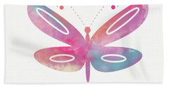Watercolor Butterfly 2- Art By Linda Woods Beach Towel