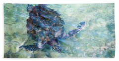 Watercolor Turtle Beach Towel