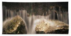 Waterfall Detail Beach Towel by Scott Meyer