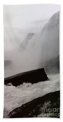Beach Towel featuring the photograph Waterfall by Raymond Earley