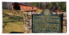Watson Mill Covered Bridge 010 Beach Towel by George Bostian