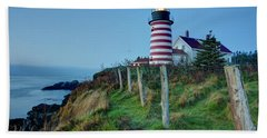 West Quoddy Head Light Beach Towel