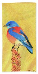 Western Bluebird Beach Towel