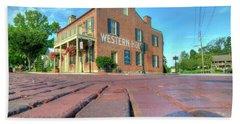 Western House Beach Towel by Steve Stuller