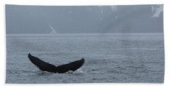Beach Towel featuring the photograph Whale Fluke by Brandy Little