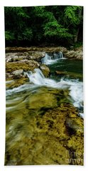 Whitaker Falls In Summer Beach Towel