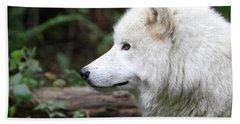White Wolf Forest Beach Towel