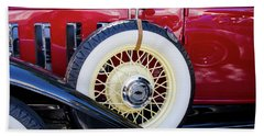 Beach Towel featuring the photograph Wide Whitewall Spare Tire by Arthur Dodd