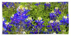 Wild Bluebonnets Blooming Beach Sheet