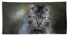 Wild Cat Portrait Beach Sheet