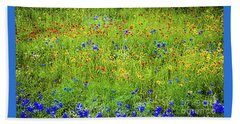 Beach Towel featuring the photograph Wildflowers In Bloom by D Davila