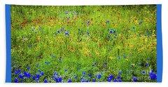 Wildflowers In Bloom Beach Sheet