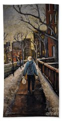 Winter In The City Beach Towel