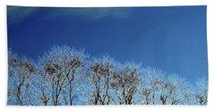 Winter Trees And Sky 3  Beach Towel