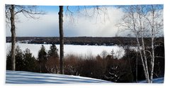 Winter View Of Sister Bay Beach Towel