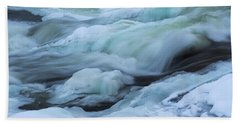 Winter Waterfall Beach Towel