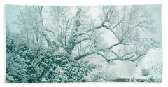 Beach Sheet featuring the photograph Winter Wonderland In Switzerland by Susanne Van Hulst