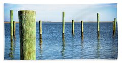 Wood Pilings Beach Towel