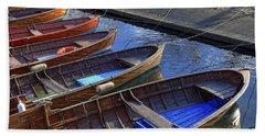 Wooden Boats Beach Towel