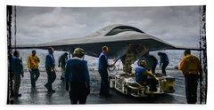 X-47b Uav Beach Towel
