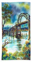 Yaquina Bay Bridge Beach Towel
