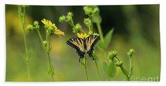 Yellow Butterfly Beach Sheet