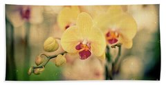 Beach Towel featuring the photograph Yellow Orchids by Ana V Ramirez