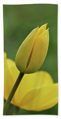 Beach Towel featuring the photograph Yellow Tulips by Sandy Keeton