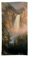 Yellowstone Falls Beach Towel