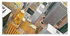 Yesterday's #birdseyeview Of #downtown Beach Towel